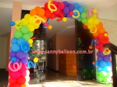Arco colorido sanny paula