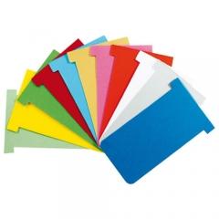 Todas as cores fichas de cartolina kanban