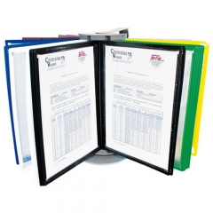 Exemplo aplicação pasta expositora flexoline a4