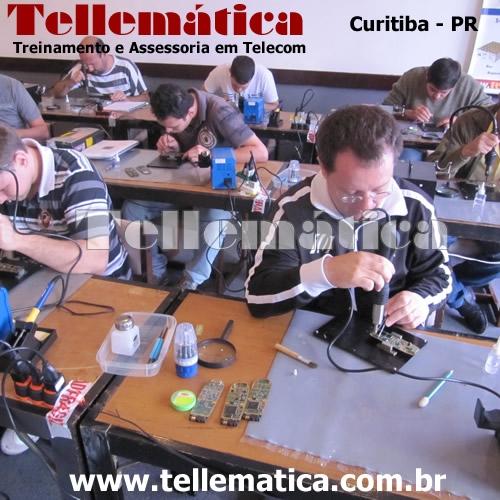 Aula prática - curso manutenção celular - Curitiba - Paraná