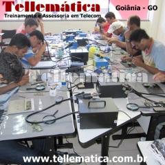 Aula - pr�tica - curso manuten��o celular - goi�nia - goi�s