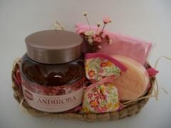 Kit perfumaria cesta palha
