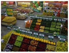Frutas e verduras na roldao