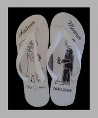 Estes são chinelos para casamento