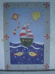 Painel em mosaico marina das crianÇas