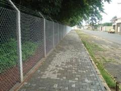 área protegida com alambrado