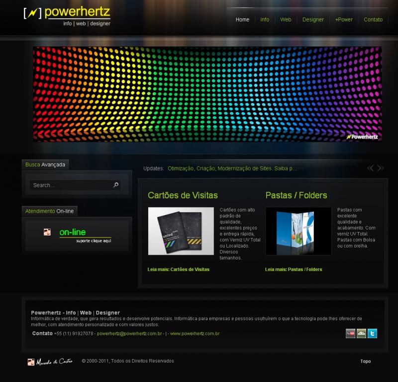Site www.powerhertz.com.br