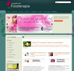 Site www.physioterapia.com.br desenvolvido por powerhertz | info | web | designer