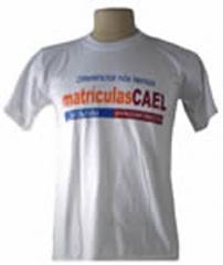 SUPER PROMOÇÃO====Camisa de malha 26.1 branca, impressa em 3 cores silk. Por apenas R$24,90 Arte Final inclusa minimo de 25 pçs