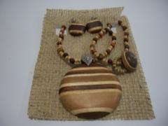Biojóia marchetaria madeiras nobres artesanato rondônia