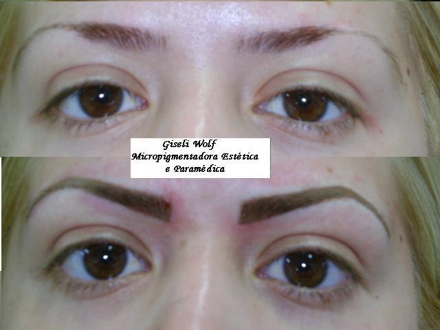 Maquiagem Definitiva: Antes e depois/Sobrancelhas