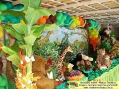A �frica e os animais da selva v�o invadir a sua festa decorada pela maria fuma�a festas.