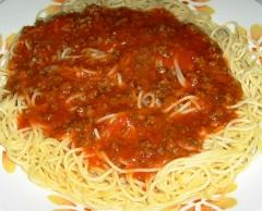 Uma delícia de espaguete !!